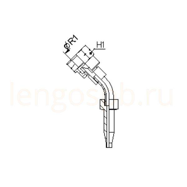 Фитинги JIC 37º (г) угловой 45º