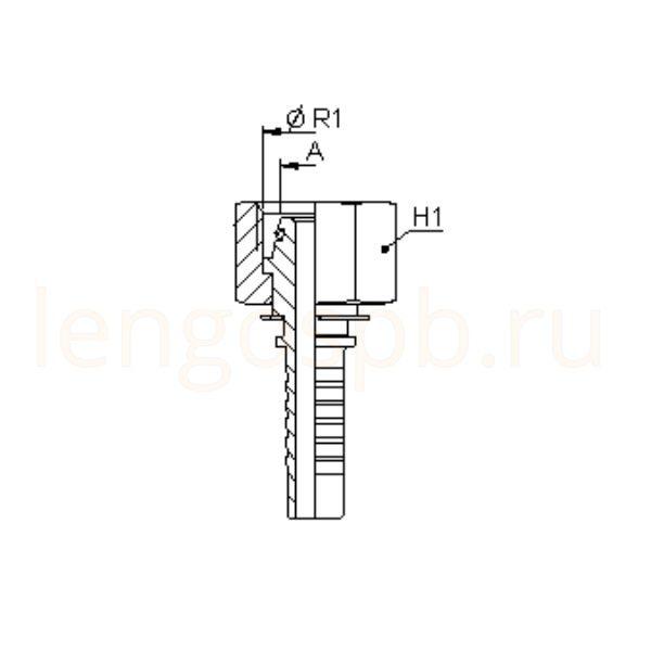 Фитинг DKO-L конус 24º универсальный внутренняя резьба