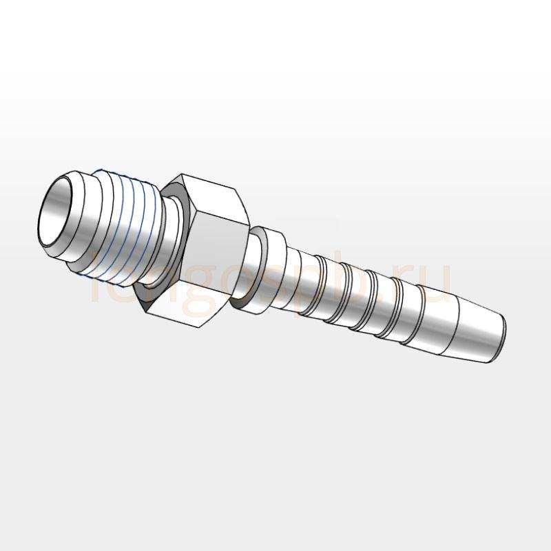 EAGJ male adaptor nipples with 74° JIC taper