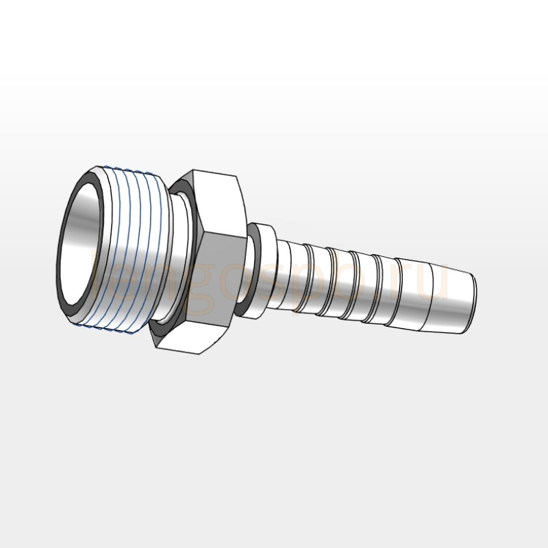 ECES male adaptor nipples with 24° taper