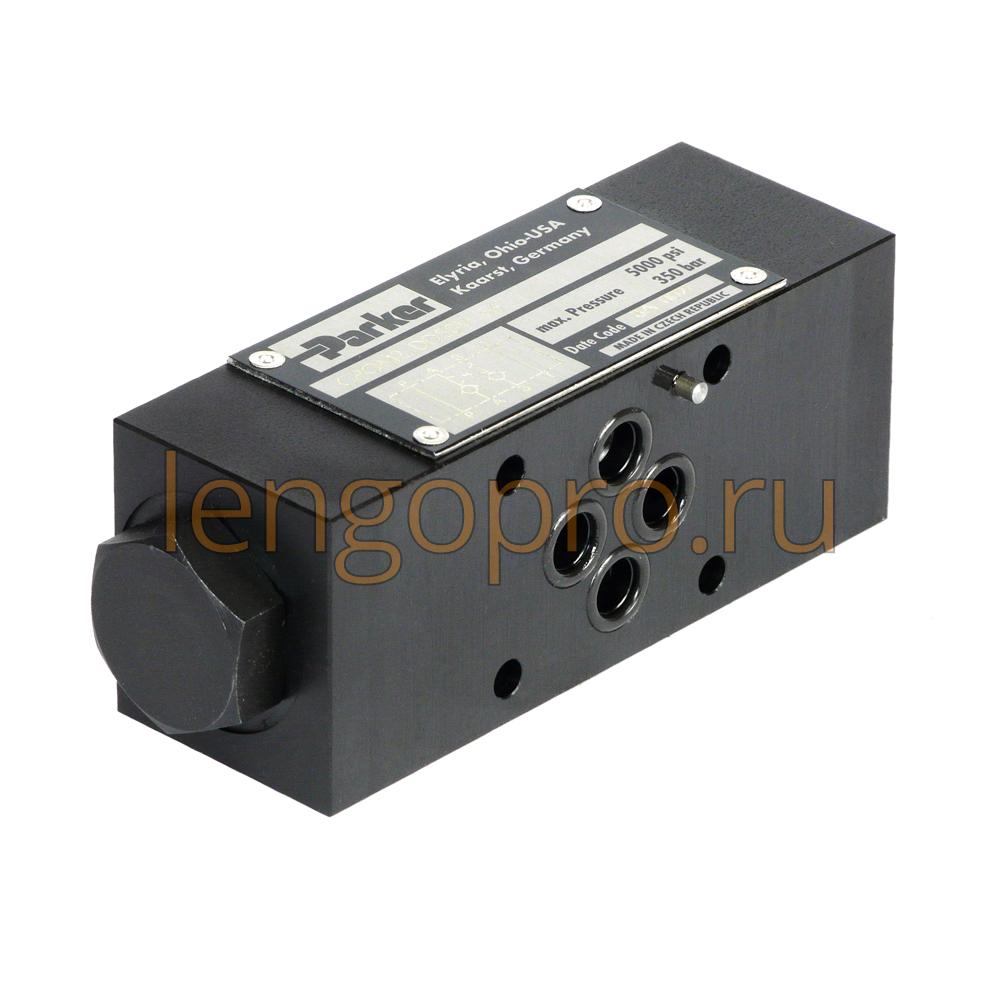 Обратный клапан CPOM Parker с сервоуправлением для модульного монтажа 2