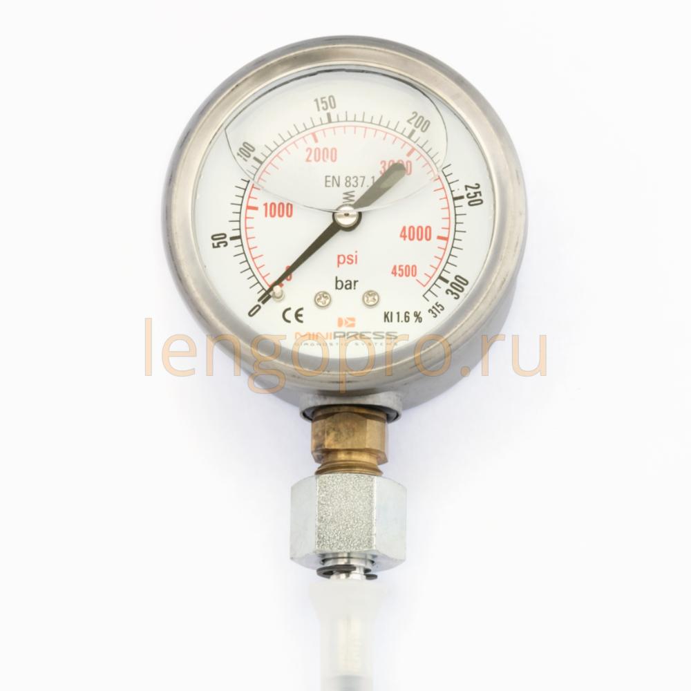 Манометры заполненные глицерином высокого давления Minipress